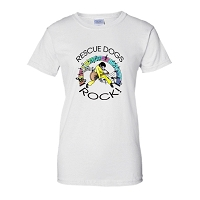 Ladies Fit T-Shirt - Rescue Dogs ROCK!