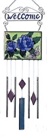 Stained Glass Flower Wind Chime