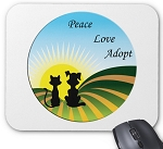 A New Beginning Mouse Pad - Peace, Love, Adopt