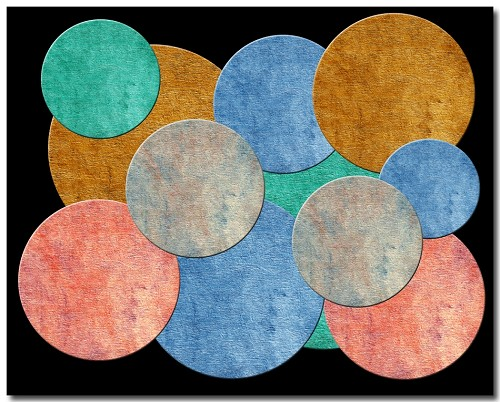 Metal Print - Diversity Abstract (Circle w/Black Background)