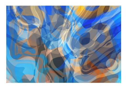 Canvas Print - Blue Abstract