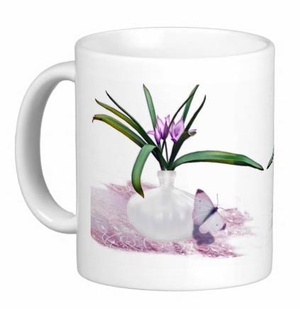 Mug - Flower and Butterfly