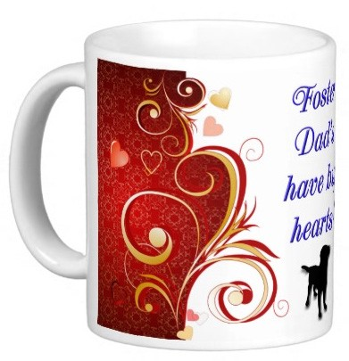 Foster Dad's have big hearts! Mug - Dog
