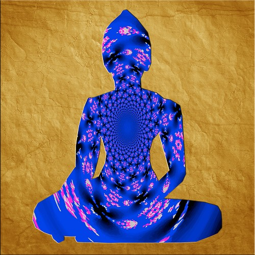 The Soul of the Buddha in Blue - Lustre Paper Print