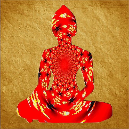 The Soul of the Buddha in Red - Lustre Paper Print