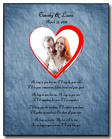 Custom Wall Plaque - Love Poem