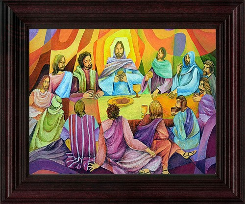 Framed Print - Supper at the Upper Room