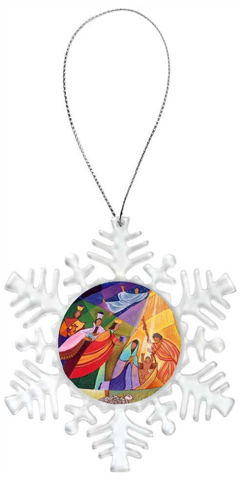Snowflake Holiday Ornament - Nativity 5