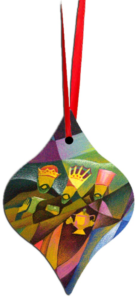 Metal Tapered Holiday Ornament - Wise Men 1