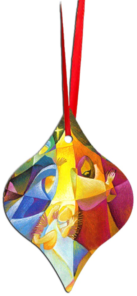 Metal Tapered Holiday Ornament - Nativity 1