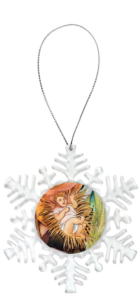 Snowflake Holiday Ornament - Baby Jesus 6