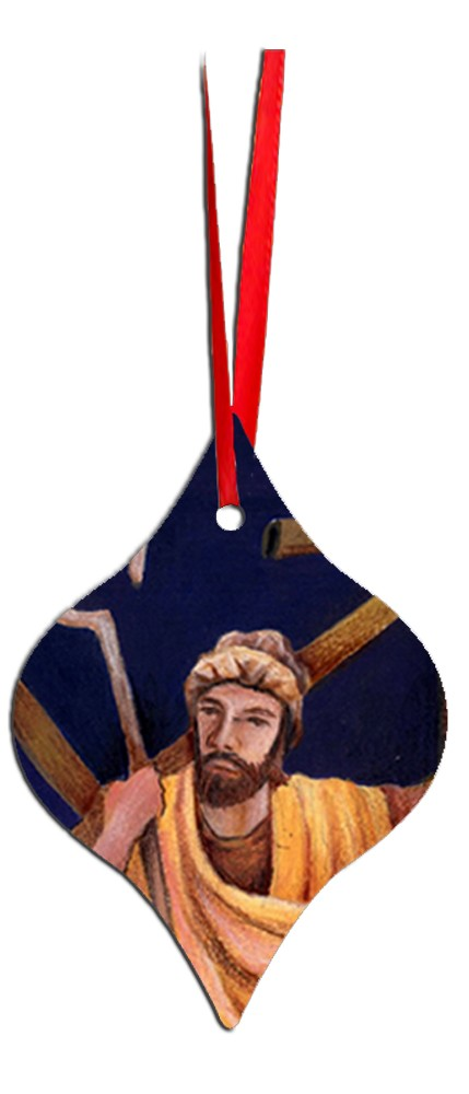 Metal Tapered Holiday Ornament - Joseph 6
