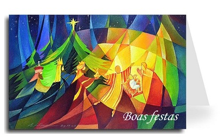 Happy Holidays Greeting Card - Nativity 1 Portuguese