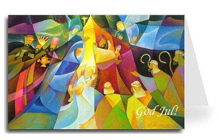 Merry Christmas Greeting Card - Nativity 3 Swedish