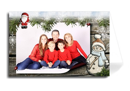 Custom Holiday Card - Santa Snowman