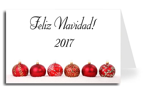 Greeting cards holiday christmas made in usa christmas balls spanish greeting card christmas balls merry christmas florentine cursive font m4hsunfo