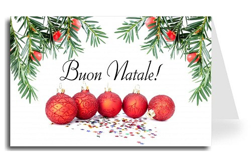 Greeting cards holiday christmas made in usa christmas balls italian greeting card christmas balls under tree merry christmas florentine cursive font m4hsunfo
