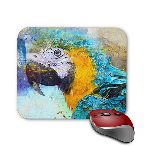 Mouse Pad - Blue & Gold Macaw 1