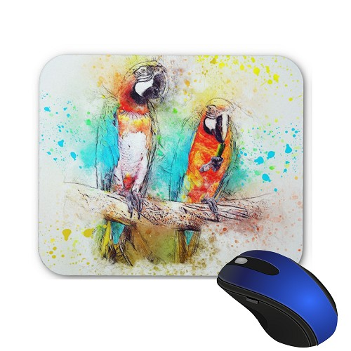 Mouse Pad - Pair of Blue & Gold Macaw
