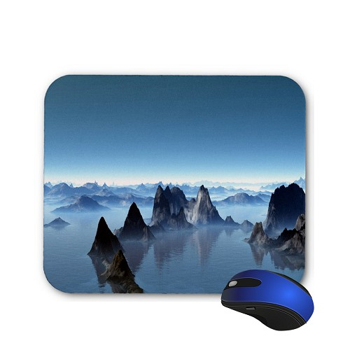 Fantasy Mouse Pad - Mountains and a Lake