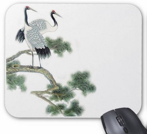 Mouse Pad - Cranes in Tree