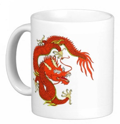 Chinese Dragon Coffee/Tea Mug - Red