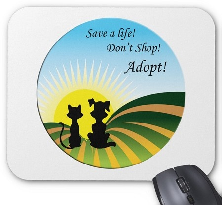 A New Beginning Mouse Pad - Don't Shop, Adopt!