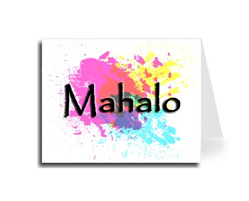 Abstract Art Thank You Card Set - Hawaiian (Papyrus Font)