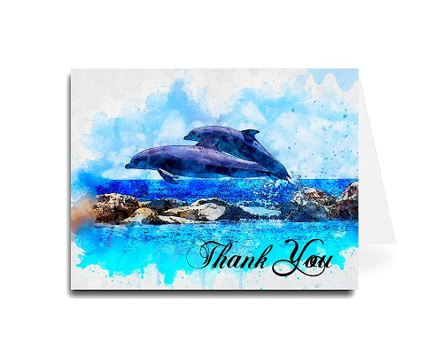 Thank You Card - Dolphins